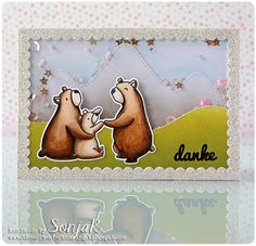 """Karte zum Vatertag und/oder Muttertag, Dankekarte 