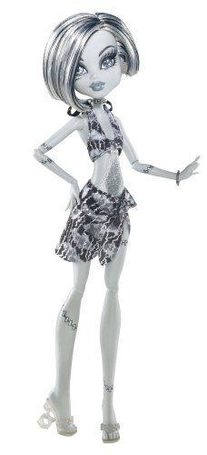 Monster High Skull Shores Black and White Frankie Stein Doll: http://www.amazon.com/Monster-Skull-Shores-Black-Frankie/dp/B006X415GK/?tag=overtheairhd-20