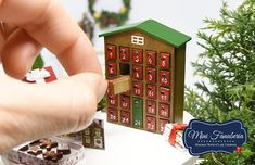 Advent Calendar with pull out drawers Christmas miniature