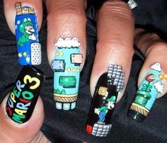 I think this nail design is just really cool... I wonder if this can be done on short nails?