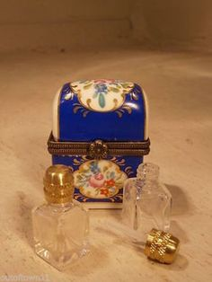 Vintage perfume bottle with box