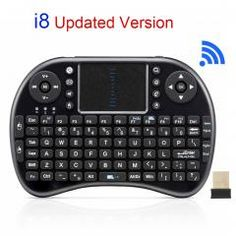 [ 35% OFF ] Original I8 Mini Wireless Keyboard 2.4G English Air Mouse Qwerty Keyboard Gaming Usb Keyboard Touchpad For Android Tv Box Laptop