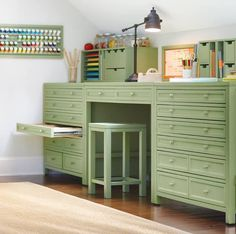 From Home Decorators Collection, great furniture for crafting studio space  http://www.homedecorators.com/P/Martha_Stewart_Living_Craft_Space_Eight-Drawer_Flat-File_Cabinet/400/