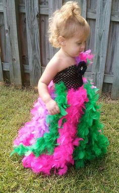 Feather Tutu Dress and comes with a matching headband. $45.00, via Etsy.