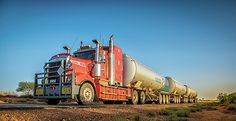 Long Road train in Australian outback #australia #westernaustralia #truck #trucker