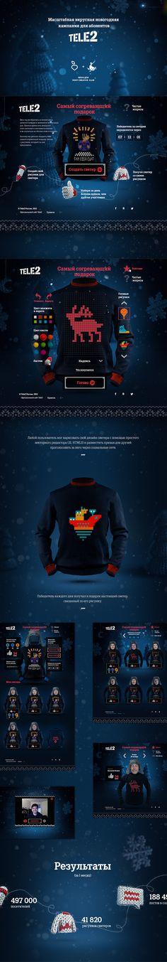 Tele2 sweater generator by Redis, via Behance