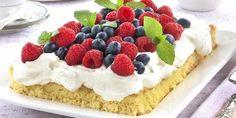 Sukkerbrød i langpanne - Lag bløtkake til mange med denne deilige oppskriften. Cheesecake, Food And Drink, Baking, Desserts, Cakes, Recipes, Drinks, Deserts, Beverages