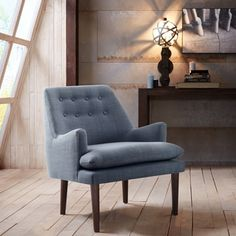 Top Product Reviews for Madison Park Elsa Blue Mid-Century Accent Chair - Overstock.com - Mobile