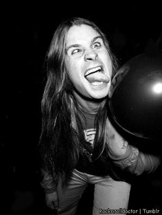 Ozzy Osbourne was doing the teenage girl tongue pose before it was cool.