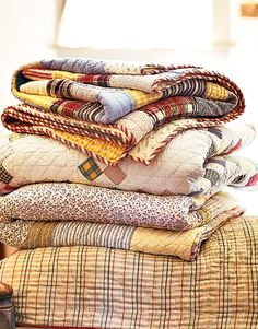 Quilts in warm fall colors