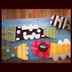 folk art fish (long post)