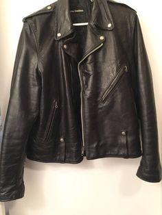 4fd9e3c7457 AMF Harley Davidson Black Leather Jacket Biker s Jacket Blouson Cuir