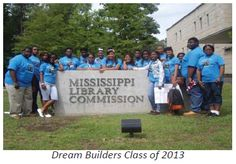 Seventeen students from the 2013 Dream Builders Entrepreneurship Institute of the Hinds Community College in Utica, MS visited the Patent Trademark Resource Center at the Mississippi Library Commission.