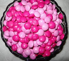 M & M de color magenta! PINK awareness we love it! Perfect Pink, Pink Love, Bright Pink, Pretty In Pink, Pink And Green, Pink Purple, Purple Rain, Pink Girl, Color Magenta