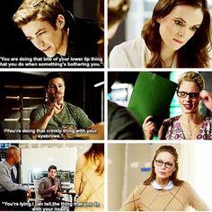 Otp goals #Olicity #Snowbarry #Karwinn  when person A notice little things about person B - Kara + Winn - Oliver + Felicity - Cait + Barry