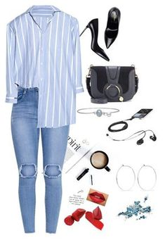 """""""Untitled #277"""" by alinelyma-1 on Polyvore featuring Rob Wynne, Yves Saint Laurent, Vetements, See by Chloé and Catbird"""