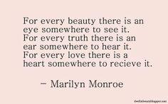 Marilyn Monroe Quote of the week