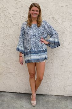 Printed tunic top #DreamgirlsBoutique