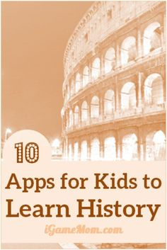 Do you like history? These 10+ apps are taking history study to a new level, with multi-media materials, role play games, interactive quizzes, and many fun activities kids love play. Now you can travel the world and history right at your desk, in your classroom or home.   technology education resource