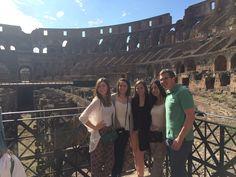Inside the Roman Colosseum.