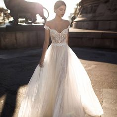 "Gali Karten 2017 Wedding Dresses — ""Barcelona"" Bridal Collection gali cards 2017 bridal off the shoulder sweetheart neckline ornate bodice tulle skirt romantic soft a line wedding dress open v back chapel train zv – Gali Cards 2017 Bridal Gowns Wedding Dress Black, Dream Wedding Dresses, Bridal Dresses, Wedding Gowns, Wedding Dress Tulle, Wedding Dressses, Wedding Cake, 2017 Bridal, 2017 Wedding"