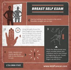 Get to the know the girls; 70% of breast cancers are found through self exams and with early detection.