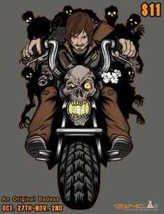 """New """"Original Badass"""" (Daryl Dixon/TheWalkingDead themed homage character collage styled) design by OfficeInk just $11 through November 2nd at  http://www.graphiclabtees.com/    You can also follow me to see new designs,products, and artwork in the links below: http://instagram.com/officeink https://twitter.com/OfficeInkComics https://www.facebook.com/OfficeInkDesigns http://www.designbyhumans.com/shop/OfficeInk/"""