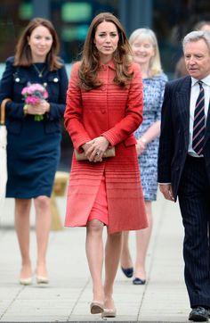 Kate wears stunning red Athena Jacquard coat during Scotland visit