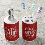 Faith Family Farm Toothbrush Holder Soap Dispenser #weddinginspiration #wedding #weddinginvitions #weddingideas #bride