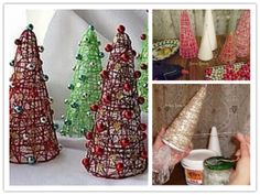 How to make Cute Decorative Christmas Trees step by step DIY tutorial instructions thumb