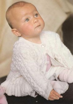 Patons Little Angels Baby Cardigan Free Knit Pattern Booklet - Free Baby Knitting