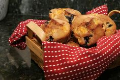 Fresh Apricot Muffins with Blueberries