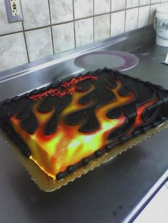 CAKE idea. Like the way the flames look