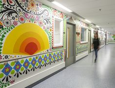 A number of artists and designers were commissioned to add cheer to the wards of the Royal London Children's Hospital with the aim of making their young pa