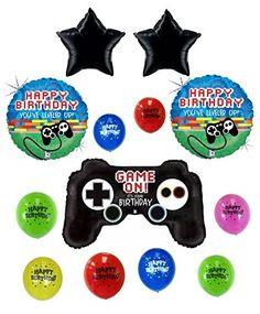 Gamers Game On!! Happy Birthday Balloon Decoration Kit