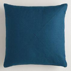 Night Blue Herringbone Cotton Throw Pillow from Cost Plus World Market's New Desert Caravan Collection >> #WorldMarket Home Decor Ideas