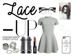 """""""Lace It Up"""" by ana-silva-386 ❤ liked on Polyvore featuring Prada, Superdry, Casetify, Dorothy Perkins, Pieces and laceup"""