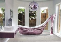 cinderella bedroom ideas | The extravagant bathtubs are adorned with brilliant,dazzling glass ...