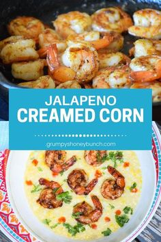 A combination of sweet and spicy flavors for a #healthy and delicious #shrimp meal! #sweetchili #jalapeno #corn #creamedcorn #GHBrecipes Easy Vegetable Side Dishes, Side Dishes For Bbq, Healthy Side Dishes, Vegetable Recipes, Main Dishes, Boiled Vegetables, Sauteed Vegetables, Supper Recipes, Side Dish Recipes