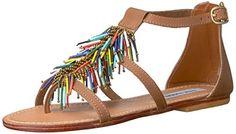 Steve  Madden  womens  beadiee  flat  sandal  brightmulti