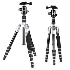"""﹩67.99. Professional Tripod Ball Head Travel Portable Monopod for Canon Nikon DSLR    Compatible Features - 360 Degree Rotation, Head Type - Ball Head, Type - Tripod, Head Included - Yes, To Fit - Camera, Maximum Height - 50"""", Maximum Load - 13.23lbs., Material - Aluminium Alloy, Max Tube Diameter - 0.87"""", Height Without Center Column - 38.78"""", Folded Height - 12.99"""", Min Height - 10.24"""", Sections - 5, Net Weight - 2.69lbs (Head Included),"""