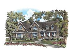 European House Plan with 2276 Square Feet and 3 Bedrooms from Dream Home Source | House Plan Code DHSW075782