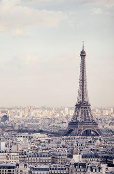 Lovely Clusters - Beautiful Shops: Paris Photography, Eiffel Tower Decor, Pastel Paris Decor, Architecture Art