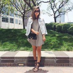 Blogger Crystal of Cryskay instagrams her favorite Lucky Brand denim jacket, June 2015.