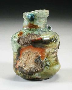 woodfired stoneware bottle  12 cm., Chester Nealie   Gulgong, Australia