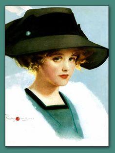 Pretty pout   #vintage   #portrait   #hat   #pout   #girl   #art