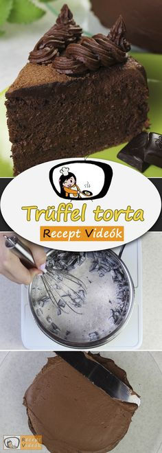TRÜFFEL TORTA RECEPT VIDEÓVAL - trüffel torta készítése Rum, Recipes, Food, Liquor, Meal, Eten, Recipies, Meals, Room