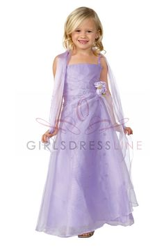 Lilac Layered Organza A-line Flower Girl Dress - L4135 L4135LI $55.95 on www.GirlsDressLine.Com