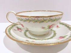 Gilman Collamore Tea Cup and Saucer, BWM Co Cup, Brown Westhead Moore Cup, English Bone China Cups, Vintage Tea Party, English Teacups by AprilsLuxuries on Etsy