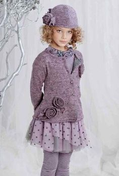 "Kate Mack ""Lilac Fairy"" Beautiful Lilac Cardigan SweaterSizes 4 - 16 - click to enlarge"